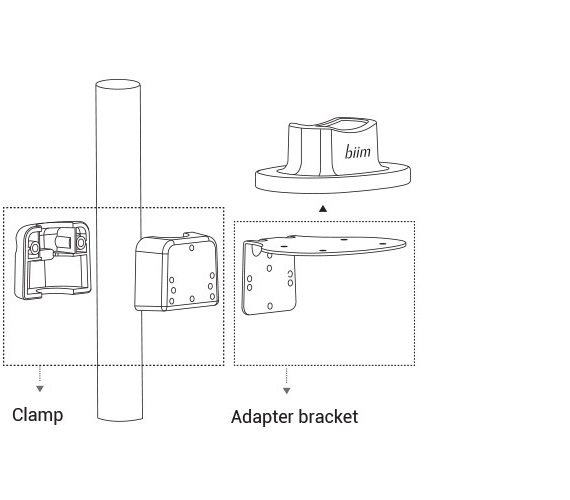 Clamp and bracket adapter